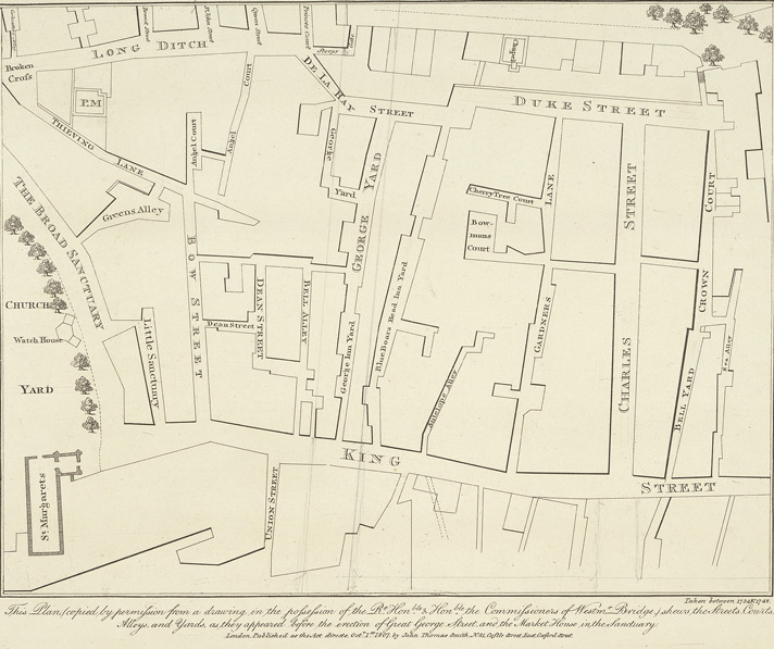 A plan of part of the Parish of St Margaret's before the building of Great George Street
